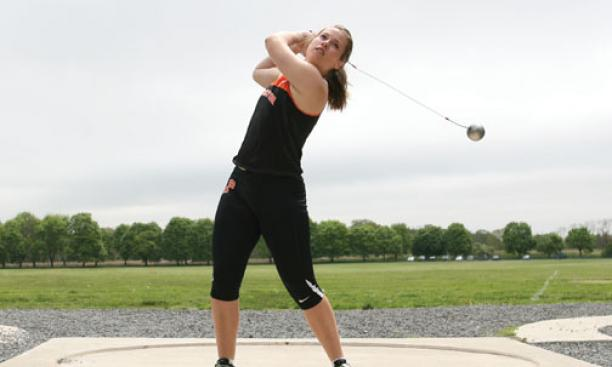 New Zealand native Julia Ratcliffe '16 excels in the hammer throw and the weight throw, two little-known track and field events.