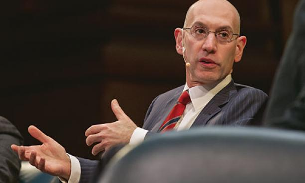 NBA Commissioner Adam Silver spoke on campus March 24.