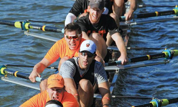 Fat Cat alumni crews rowed against undergraduates during the Princeton Chase last fall.