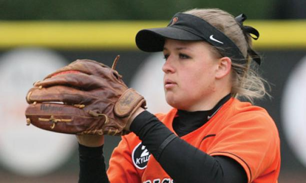 Candy Button '13 is a quiet spark plug on the softball team and a high achiever in the classroom.
