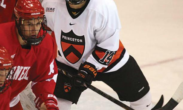 Andrew Ammon '14 has been a standout for men's hockey.