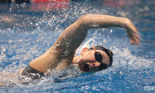 Megan Waters '11 is one of the Princeton swimmers training for the Olympic trials.
