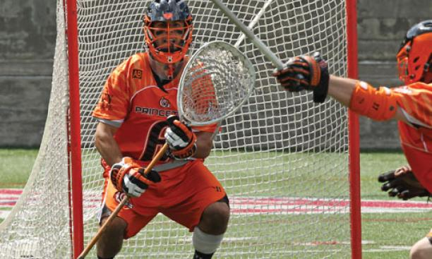 Goalie Tyler Fiorito '12 was Ivy Player of the Year in men's lacrosse.
