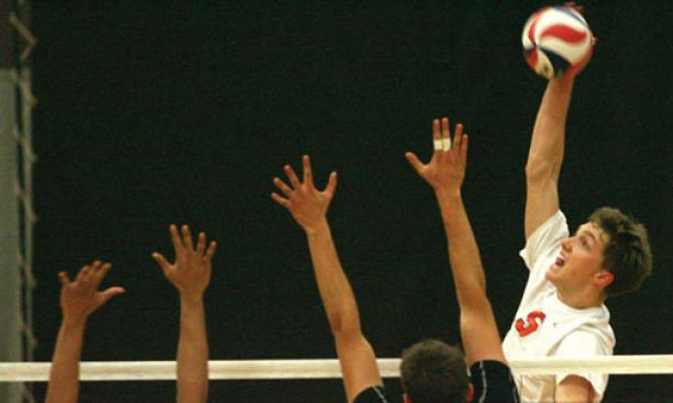 Men's volleyball standout Cody Kessel '15