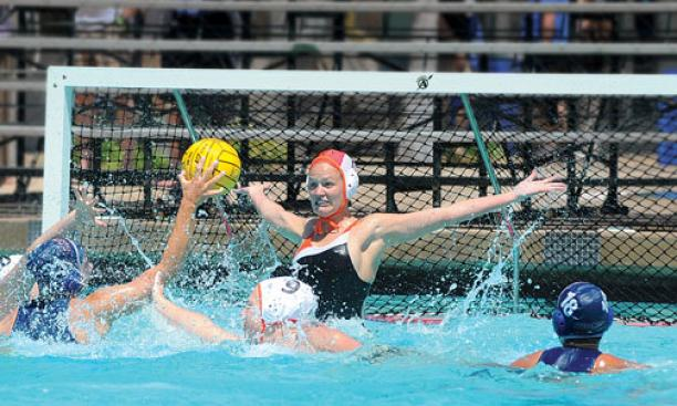 Women's water-polo goalie Kristen Ward '12