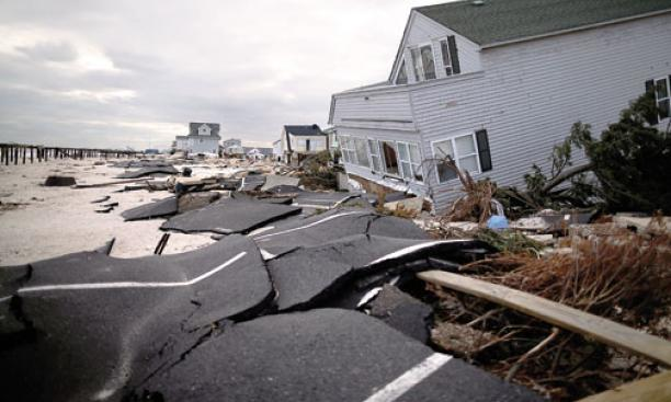 Ortley Beach, N.J., was a scene of devastation a month after Hurricane Sandy struck.