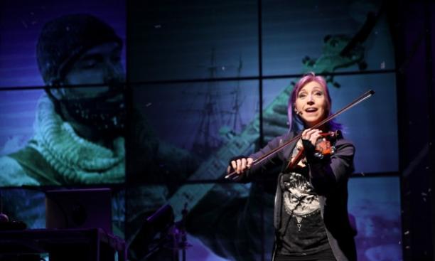 Valerie Vigoda in 'Ernest Shackleton Loves Me' (photo by Jeff Carpenter for ACT Theatre, Seattle)