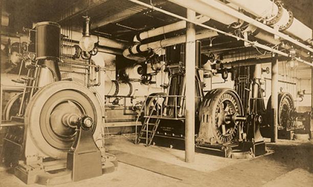 Inside Princeton's Power House, 1921.