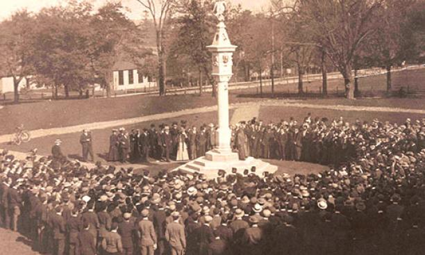 Mather Sundial dedication, Oct. 31, 1907