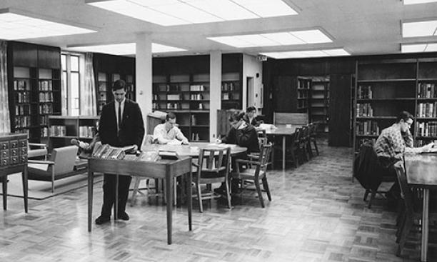 Julian Street Library in Wilcox Hall in 1962.