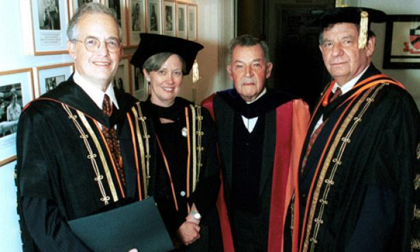 "2001: After 15 years on the biology faculty, Shirley Tilghman is formally installed as Princeton's 19th president Sept. 28, 2001. In her speech, Tilghman addresses the recent Sept. 11 terrorist attacks, saying that ""history will judge us in the weeks"