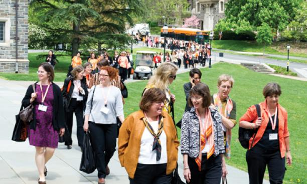 "2011: Four decades after the beginning of coeducation on campus, Princeton hosts ""She Roars,"" a conference that draws 1,400 alumnae. In town-gown news, the University's proposed arts-and-transit neighborhood runs up against opposition from residents"