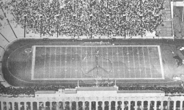 Photo of Yale/Princeton bands from 11/25/69 PAW