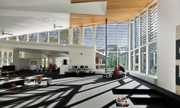 MARYANN THOMPSON ARCHITECTS: Daylighting keeps energy costs down at The Children's School and allows the child to live and learn in rhythm with the changing daily patterns of sunlight and cloud cover on the site. (Photo: Courtesy Maryann Thompson Architec