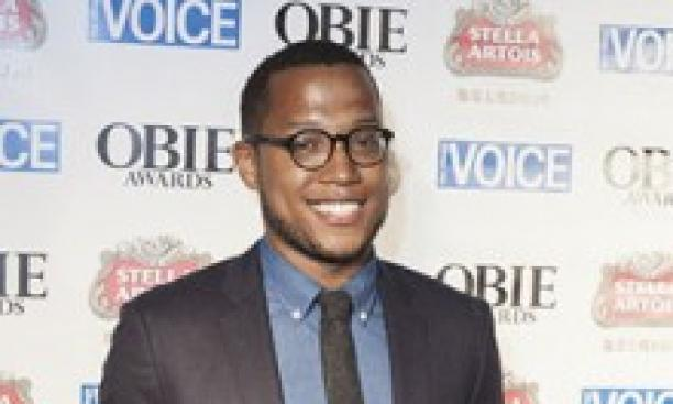 Branden Jacobs-Jenkins '06 at the Obies (Off-Broadway Awards) last week. (Shutterstock/Lev Radin)