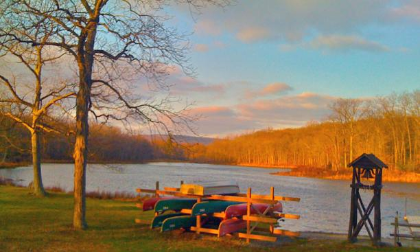 A view of Bass Lake at the Princeton-Blairstown Center.