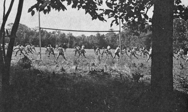 From 1949 to 1972, the Blairstown camp hosted preseason training for the Princeton football team, including the 1967 squad, pictured here.