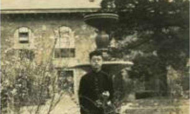 Tung Ching Chow *33 on the Tsinghua campus, circa 1929