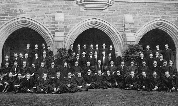 The graduate-student body, 1915.