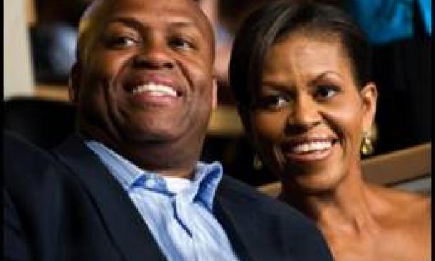Craig Robinson '83 and Michelle Robinson Obama '85
