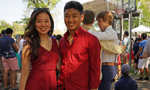 Christin Park '18 and Timothy Tran '15.