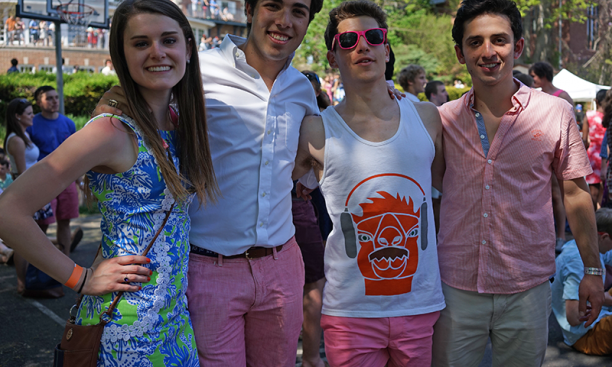 From left, Natalie Fahlberg '18, Sebastian Negron-Reichard, Brandt Beckerman '18, and Emilio Moreno '18