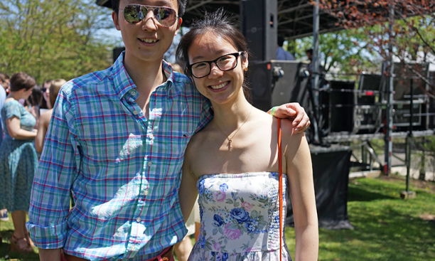 Tony Lu '17 and Jin Yun Chow '17