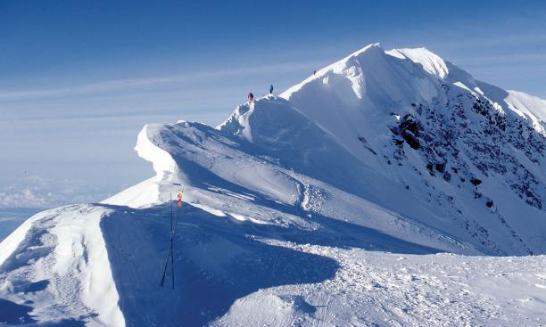 On a ridge at Mount McKinley.