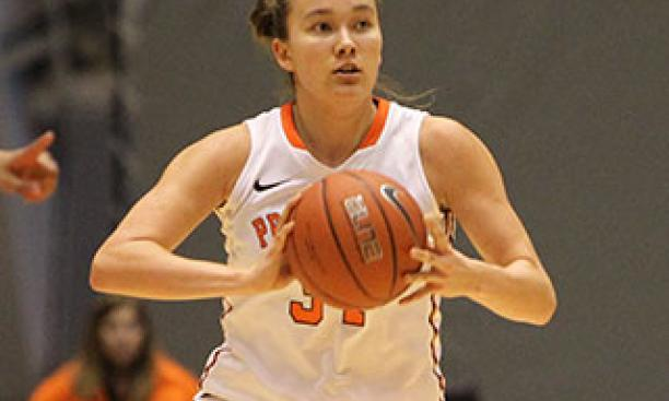 Michelle Miller '16 scored a combined 31 points in the weekend wins over Columbia and Cornell. (Beverly Schaefer)