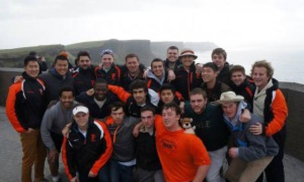 Men's rugby spent a week training on the wind-swept west coast of Ireland. (Courtesy Chris Shin '17)