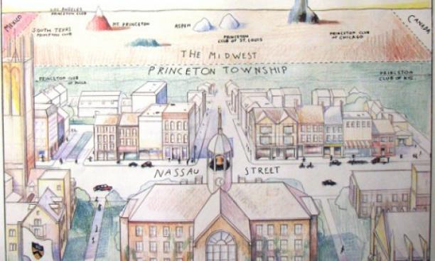 ThrowbackThursday View Of The World From Princeton University - New yorker map of the us