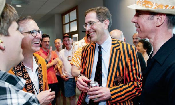 Talking with alumni at Reunions 2013 as president-elect.
