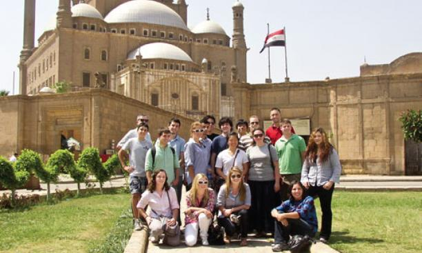 "One of the highlights of the 2010 Global Seminar, ""Islam, Empire, and Modernity: Turkey from the Caliphs to the 21st Century,"" was a week in Cairo, where students visited the Muhammad Ali Mosque."
