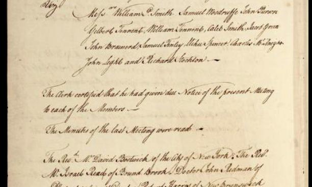 Trustee minutes of June 1, 1761: The curse of Nassau Hall?