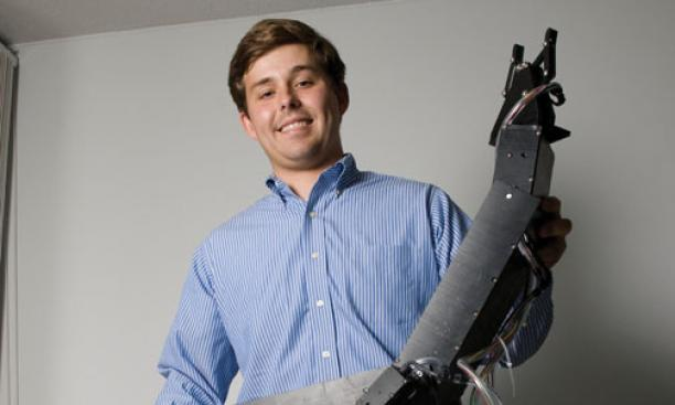 Ben Rush '11 and his submersible arm.
