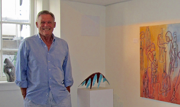 Patrick Ryan '68 at his Princeton art gallery, Gallery 353. (Jeanette Beebe '14)