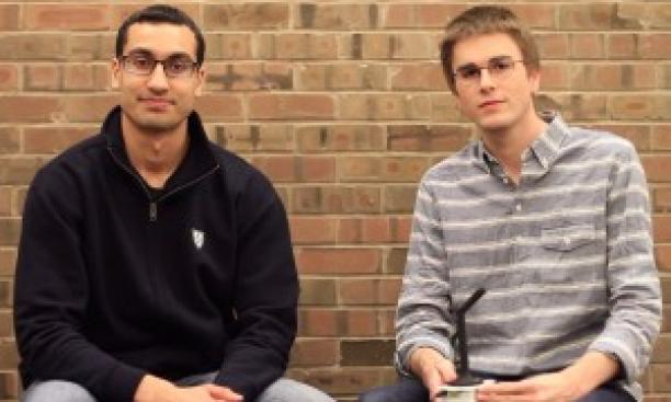 Computer science students Shubhro Saha '15, left, and Charlie Marsh '15. (Courtesy the Jasper Project)