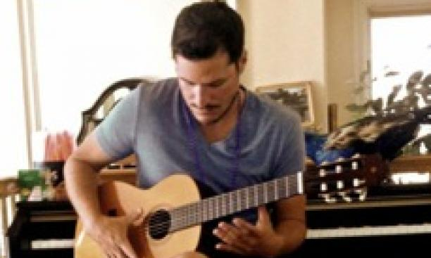 Scott Salinas '97, above, and Jackson Greenberg '12 played the instruments in their score for the documentary Cartel Land. (Courtesy Scott Salinas)
