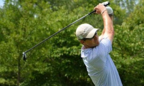 John Sawin '07, at the U.S. Amateur qualifier in Elverson, Pa., July 16. (Courtesy the Golf Association of Philadelphia)
