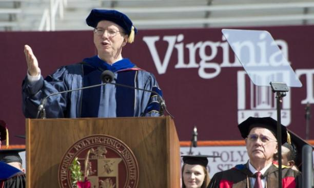 Eric Schmidt '76 delivered the Commencement address at Virginia Tech. (Courtesy Virginia Tech)