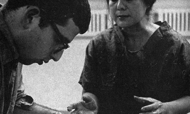 Toshiko Takaezu in 1967. (PAW Archives)