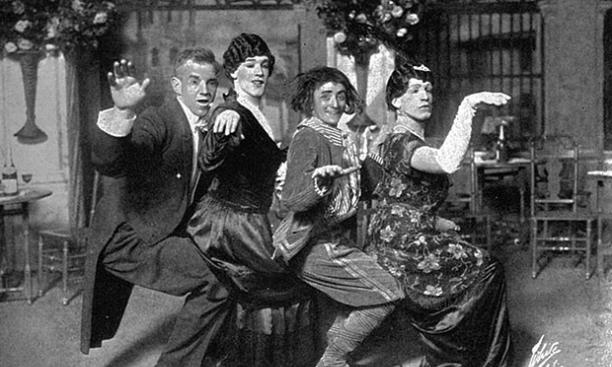A publicity shot from the 1914-15 Triangle Club show.