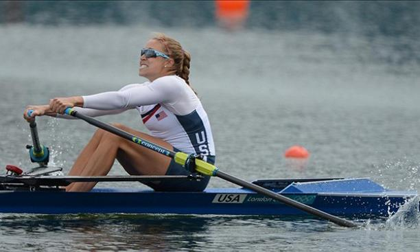 Aug. 4: Gevvie Stone '07, rowing in the Olympics while on a break from medical school, won the women's single scull B final to place seventh overall. Princeton's eight Olympic rowers each finished in the top eight of their events.