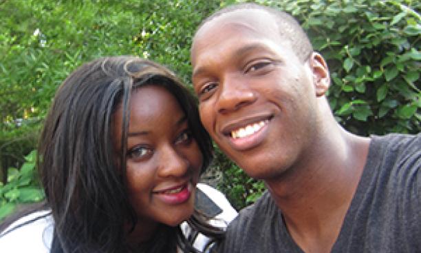 Veneka and Jared (Courtesy Veneka Chagwedera)
