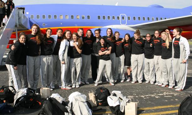 A team photo on the tarmac. This was Princeton's fourth straight NCAA Tournament trip, and the final one for four seniors in the Class of 2013.