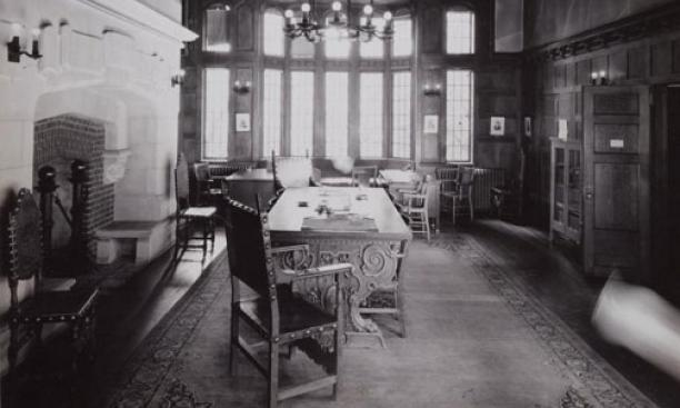 "Wilson's office in 1879 Hall: ""Modest donation"""