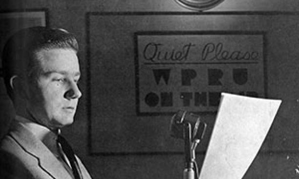 H. Grant Theis '42, founder of WPRU, which later became WPRB. (PAW Archives, Feb. 24, 1941)