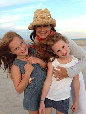 Brooke Shields '87 with her daughters.