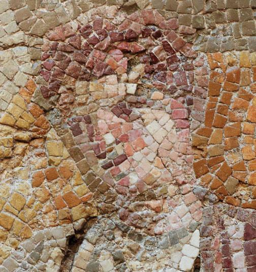 In depicting human faces, the skillful artists used as many as 700 fragments of glass or stone (called tesserae) for areas smaller than a postcard.