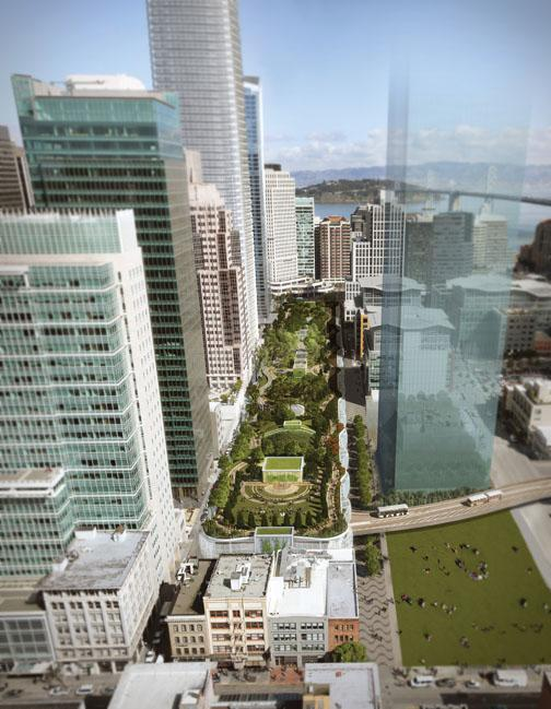In Claire Maxfield *03's plan for the Transbay Transit Center, the roof will support a five-block ecosystem.